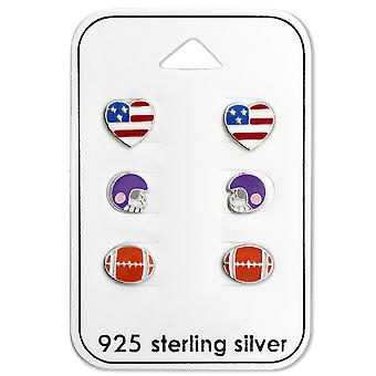 American Football - 925 Sterling Silver Sets - W28480x