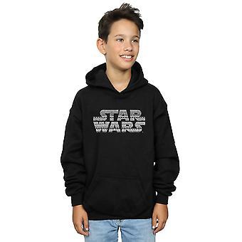 Star Wars-děti Aztec logo mono Hoodie