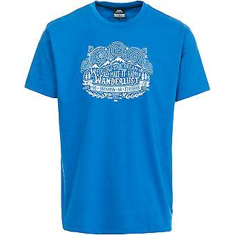 Hausfriedensbruch Mens Hainey Kurzarm Casual Sports T-Shirt mit Print