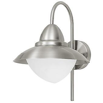 Lámpara de pared de acero inoxidable de exterior IP44 Eglo Sidney