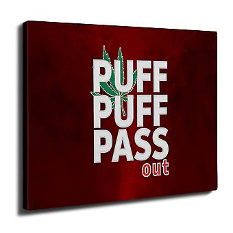 Puff Weed Marijuana Wall Art Canvas 40cm x 30cm | Wellcoda