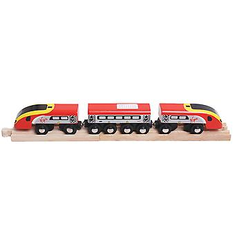 Bigjigs Rail Wooden Virgin Trains Pendolino Carriage Engine Locomotive Railway