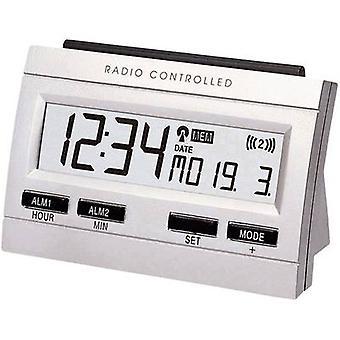 Techno Line 02991 Radio Wecker Silber Alarm 2 mal