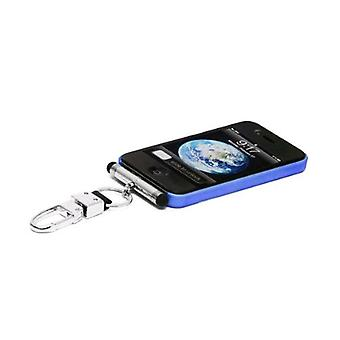 iHangy Keychain with Stylus for Apple iPhone 3/3G/4/4S/iPod - Silver