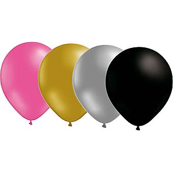 Balloons Mix 24-pack pink/gold/Silver/Black