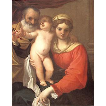 Virgin with Cherries. Annibale Carracci, 50x40cm