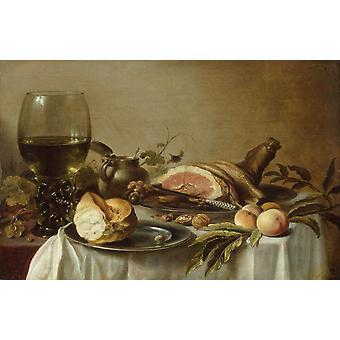 Aamiainen, jossa kinkku, Pieter Claesz, 60x40cm