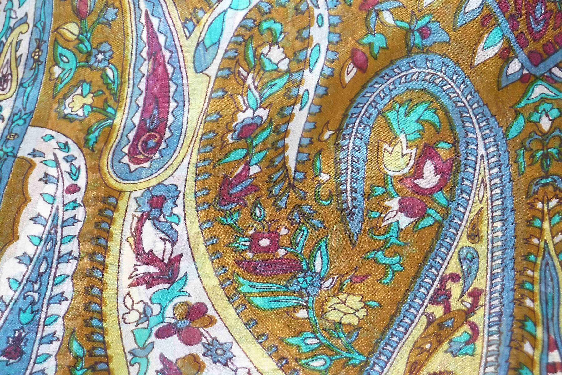 Mulberry Silk Traditional Long Scarf Ikna Caramel by Pashmina & Silk
