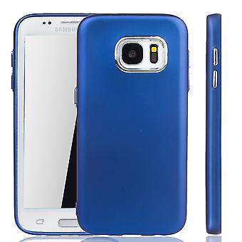 سامسونج Galaxy S7 حافة القضية-قضية الهاتف الخليوي للحافة سامسونج Galaxy S7-حالة متنقلة باللون الأزرق الداكن
