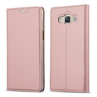 Cas Cadorabo pour Samsung Galaxy A3 2015 case cover - étui téléphonique avec fermoir magnétique, fonction de stand et compartiment de carte - Cas de couverture de cas de couverture de cas Book Folding Style