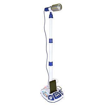 Bontempi Vintage Stage Microfoon Blauw
