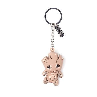 Guardians Of The Galaxy Vol.2 Groot Character 3D Pendant Rubber Keychain Keyring
