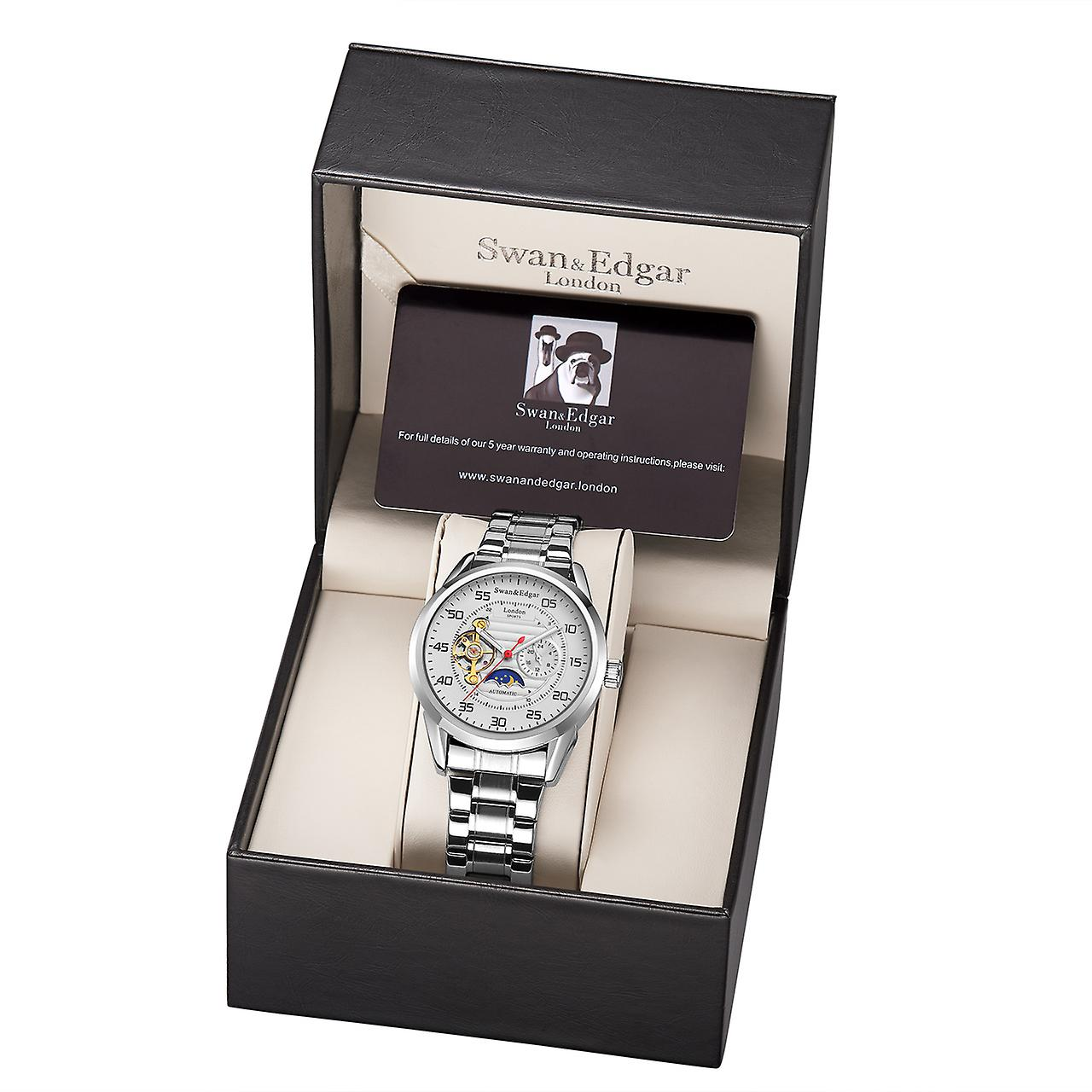 Swan & Edgar Sports Automatic White Mens Watch