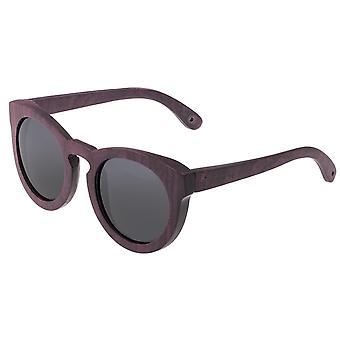 Spectrum Munro Wood Polarized Sunglasses - Purple/Black