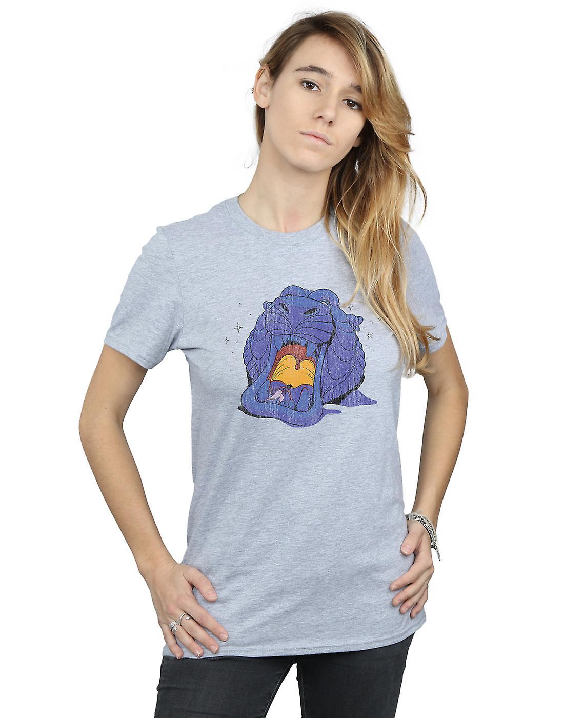 Disney Women's Aladdin Cave Of Wonders Distressed Boyfriend Fit T-Shirt