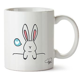 Hippowarehouse coniglietto coniglio amore stampato Mug tazza ceramica 10oz