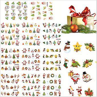 11pcs ark vand klistermærker julepynt negle dekorationer