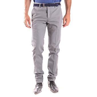 Pt01 Ezbc084023 Men's Grey Cotton Pants