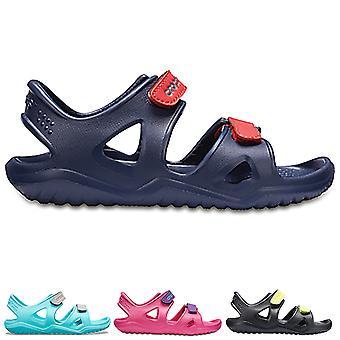 Unisex Kids Crocs Swiftwater River Sandal Lightweight Beach Rubber Shoes