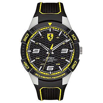 Scuderia Ferrari | Men's Apex | Black Rubber Strap | Black/Yellow Dial | 0830631 Watch