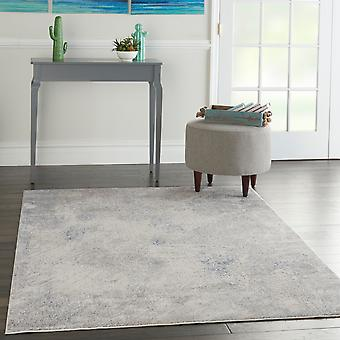 Silky Textures SLY06 Ivory Grey  Rectangle Rugs Modern Rugs