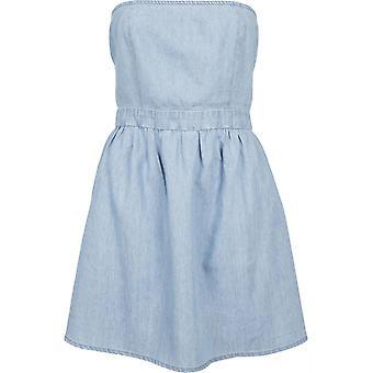 Urban Classics Damen Sommerkleid Denim Bandeau