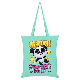 Handa Panda You Can Do It Tote Bag