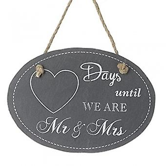 Heaven Sends Days Until We Are Mr & Mrs Plaque | Gifts Handpicked