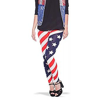Leggins USA Amerika Strumpfhose Stars and Stripes Damen one size