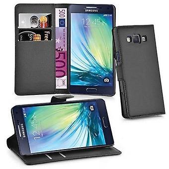 Cadorabo tilfelle for Samsung Galaxy A5 2015 case cover - strukturert faux skinn telefonveske med stativ funksjon og kort skuff - case cover beskyttende sak bok folding stil