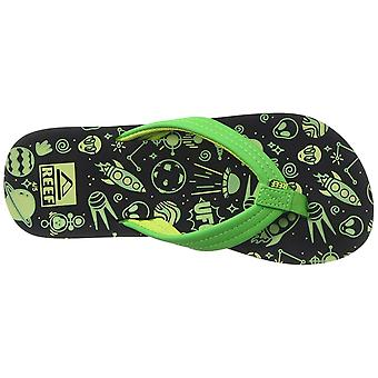 Kids Reef Girls Ahi Glow Slip On Thong