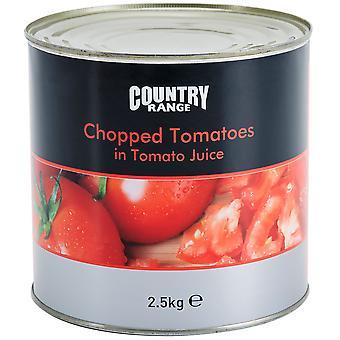 Rango país picada tomates en jugo de tomate