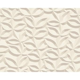 A.S. Creation AS Creation 3D Effect Leaf Pattern Wallpaper Stone Floral Leaf Modern Textured 329811