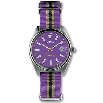 Mondia Campus Japanese Quartz Analog Woman Watch with Nylon Bracelet MI729-3CT