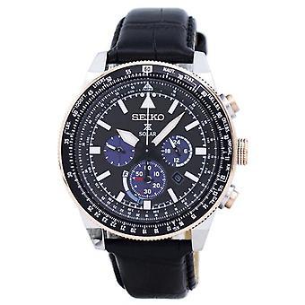 Seiko Prospex Solar Chronograph Ssc611 Ssc611p1 Ssc611p Hommes-apos;s Montre