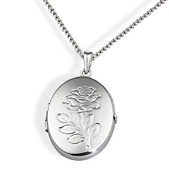 Goldmaid zilveren vrouwen ketting geoxideerde 45,5 cm