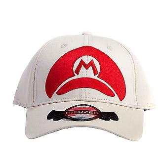Super Mario Baseball Cap Minimal Logo new Official Nintendo Cream Snapback