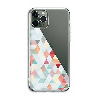 iPhone 11 Pro Max Caja transparente (suave) - Triángulos de colores pastel