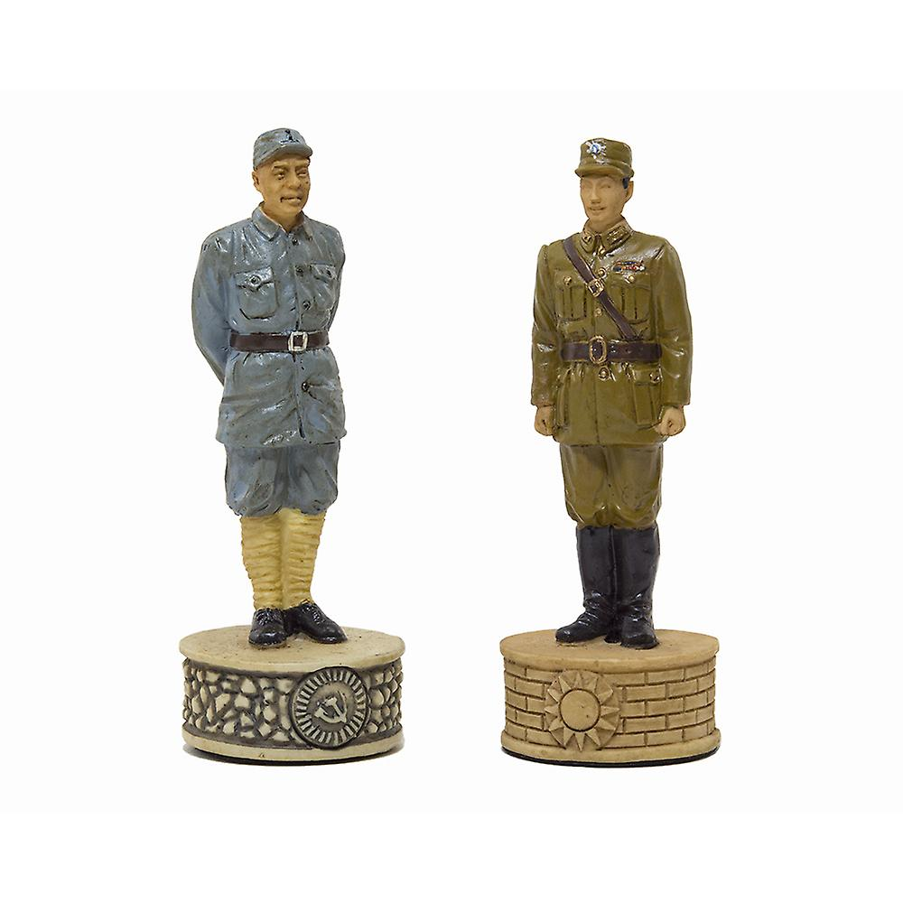 The Mao Tse Tung Hand painted themed chess pieces by Italfama