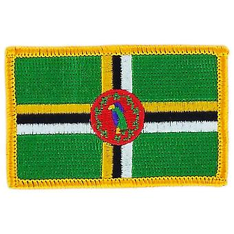 التصحيح Ecusson برود العلم دومينيك Thermocollant شارة بلاسون