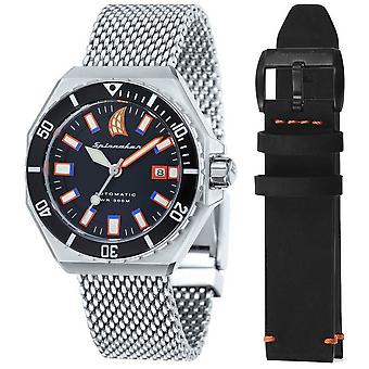 Spinnaker Dumas Vintage Diver Watch - Silver/Black