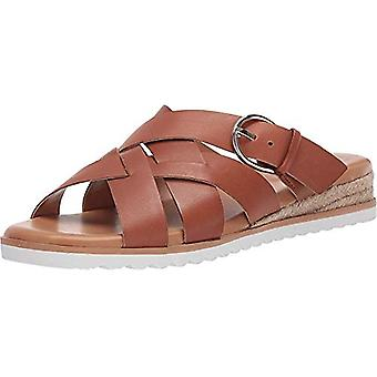 Easy Spirit Womens Pace Leather Open Toe Casual Slide Sandals