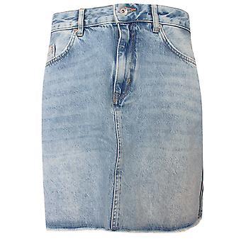 Superdry kvinnor ' s Boutique blå denim mini kjol