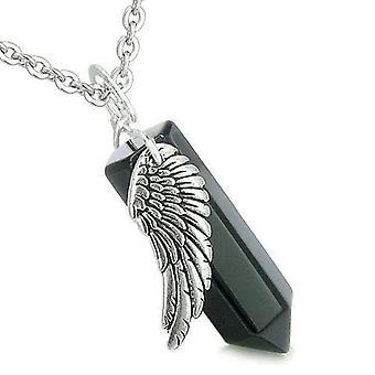 Amulet Angel Wing Aartsengel Michael Magic Crystal punt Onyx spirituele hanger ketting