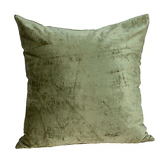 """18"""" x 7"""" x 18"""" Transitional Olive Solid Pillow Cover With Poly Insert"""