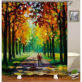 Shower Curtain Autumn Painting