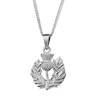 """Schottische Distel Blume von Schottland Halskette Anhänger - enthält eine 18"""" Kette"""