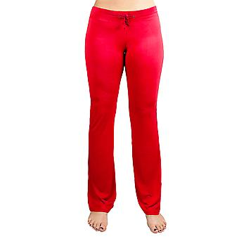 Medium Red Relaxed Fit Spodnie do jogi