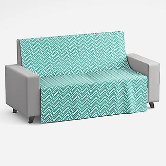 Meesoz Couvre-canapé - Layer Zigzag Turquoise