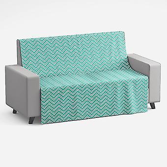 Meesoz Slaapbank Sprei - Layer Zigzag Turquoise